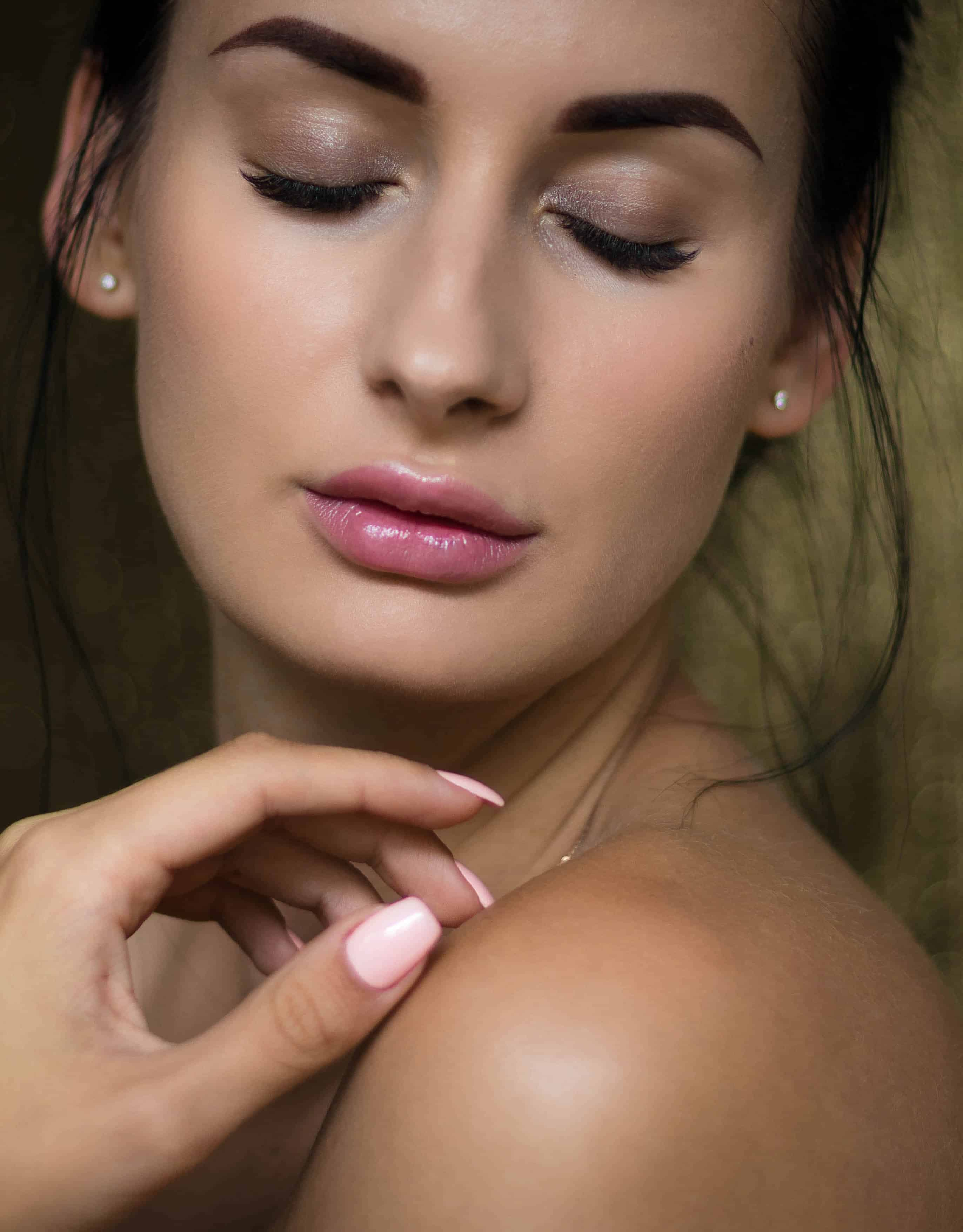 Botox Dermal Filler Model with lip augmentation